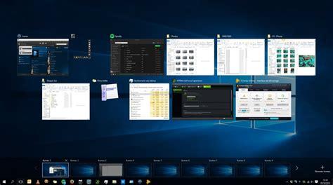 bureau virtuel windows 7 windows 10 gérer les bureaux virtuels