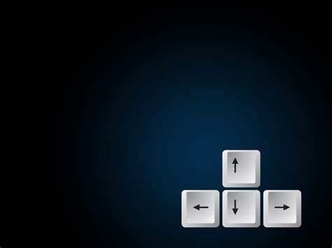 Powerpoint Templates Computer Theme by Keyboard Arrow Button Ppt Design Backgrounds Black