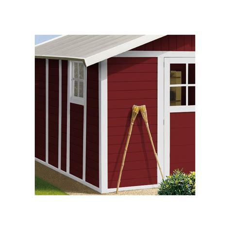 gartenhaus kunststoff grosfillex gartenhaus aus kunststoff 11 2m 178 deco rot wei 223
