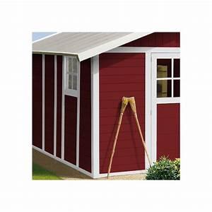 Abri De Jardin En Pvc : abri de jardin en pvc 11 2m deco rouge et blanc grosfillex ~ Edinachiropracticcenter.com Idées de Décoration