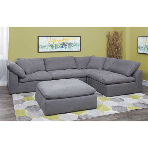 vaughn gray  piece sectional    synergy