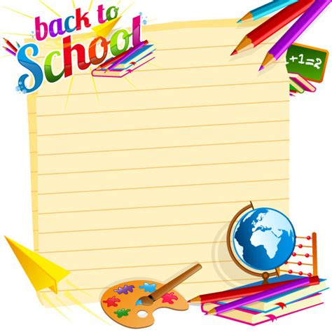 Back To School Backgrounds by Caricatura Escolares 01 Vector Free