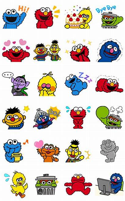 Sesame Street Stickers Line Animated Elmo Sticker