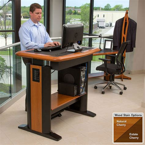 Office Max Stand Up Computer Desk by Standing Desk Modesty Panel 1 Caretta Workspace