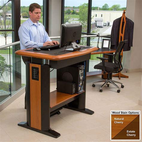 office max stand up computer desk standing desk modesty panel 1 caretta workspace