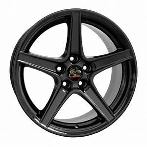 "FR06 18"" Black Rims & Ironman Tires for Ford Mustang Saleen Style"