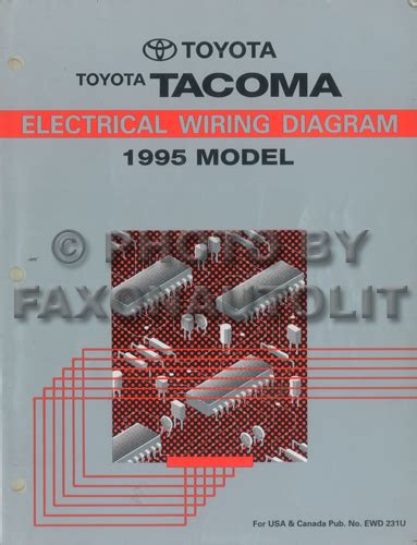1995 toyota tacoma wiring diagram manual original