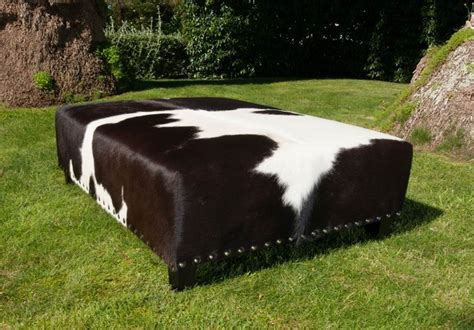Faux Cowhide Ottoman by Custom Made Cowhide Ottoman Traditional Footstools And
