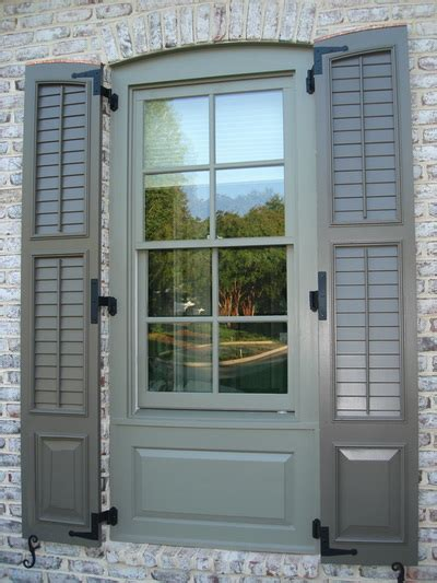 combination cutout exterior shutters palmetto window fashions shutters shades blinds