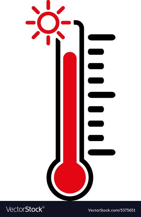 The thermometer icon High temperature symbol Vector Image
