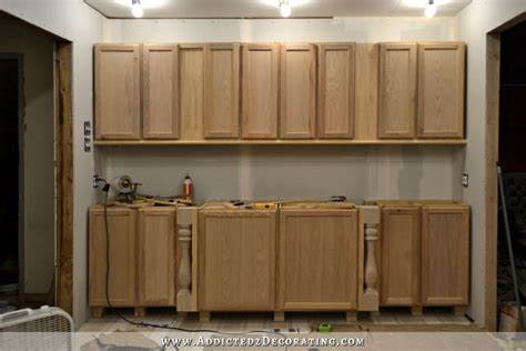 diy install kitchen cabinets diy decorative feet for stock cabinets