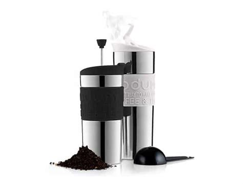 Silicone and mesh filter reduces sediment. Bodum Travel French Press Coffee Maker - Lil Deal