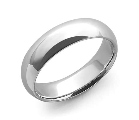 size 5 wedding rings comfort fit wedding ring in 14k white gold 6mm blue nile