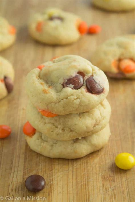 soft baked reese s pieces cookies gal a mission