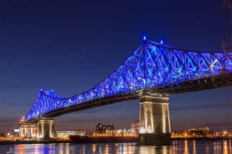 City At Night Wallpaper Illumination Of Jacques Cartier Bridge