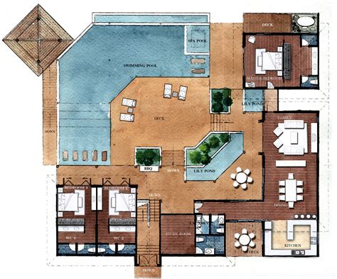 villa floor plans resort style residential floor plans floor plans