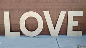 wood diy love marquee letters her tool belt With plywood letters