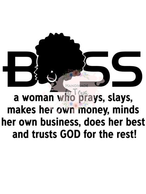 boss woman svg dxf png handmade  toya