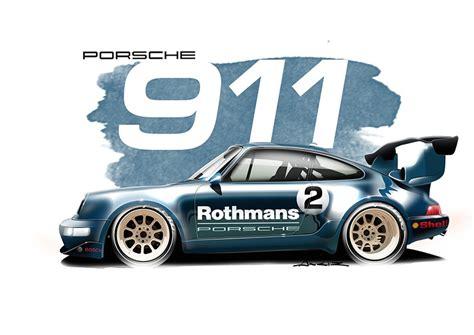 Porsche 993 GT2 Rothmans art print • Simply Petrol