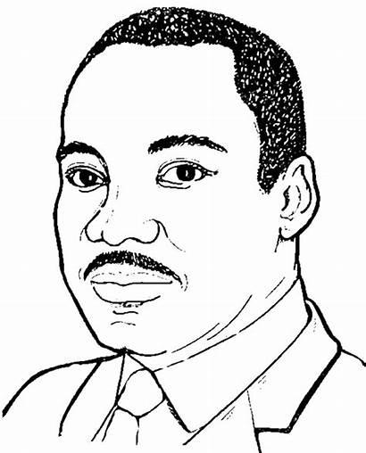 Luther Martin King Jr Coloring Preschool Printable