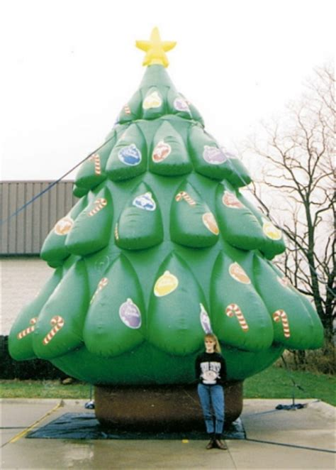 yolloy large outdoor inflatable christmas decoration tree