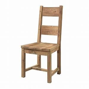 Chaise En Bois Massif : chaise en ch ne massif huil assise bois ~ Teatrodelosmanantiales.com Idées de Décoration