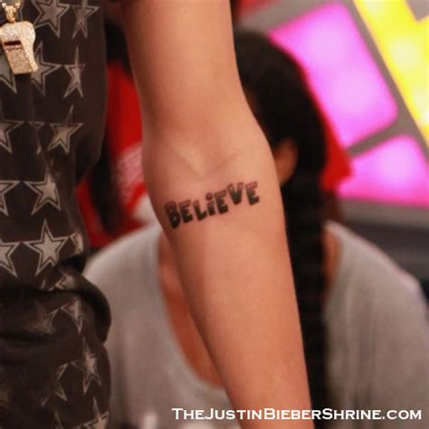 Justin Bieber Discusses His New Believe Tattoo With David