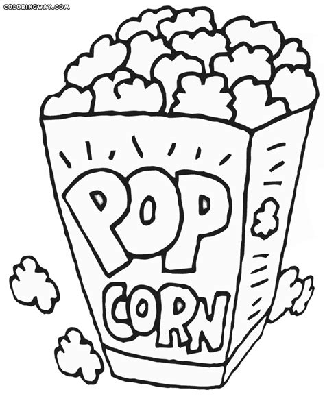 popcorn coloring pages coloring pages to and print