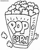 Popcorn Coloring Printable Pages Box Drawing Pop Corn Sheets Container Template Healthiest Snack Kernel Foer Bildresultat Sheet Turtle Se Colored sketch template