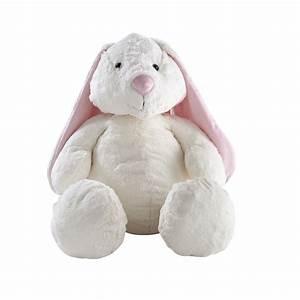 Lapin En Peluche : peluche lapin blanche rose h 40 cm bunny maisons du monde ~ Teatrodelosmanantiales.com Idées de Décoration