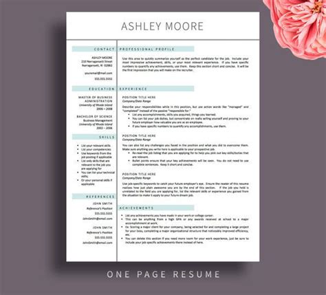 Help Doing Resume Free by Creative Resume Template Resume For Word And Pages 1
