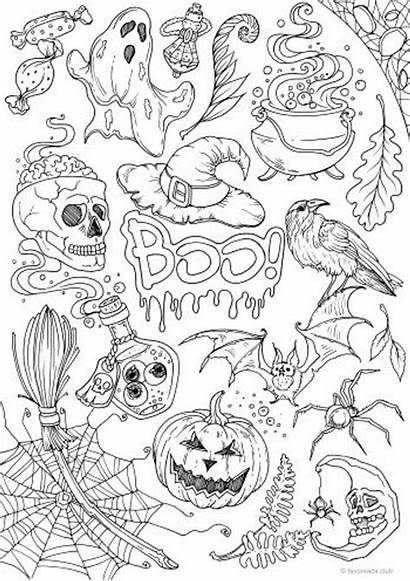 Coloring Halloween Printable Adult Adults Favoreads Sheets