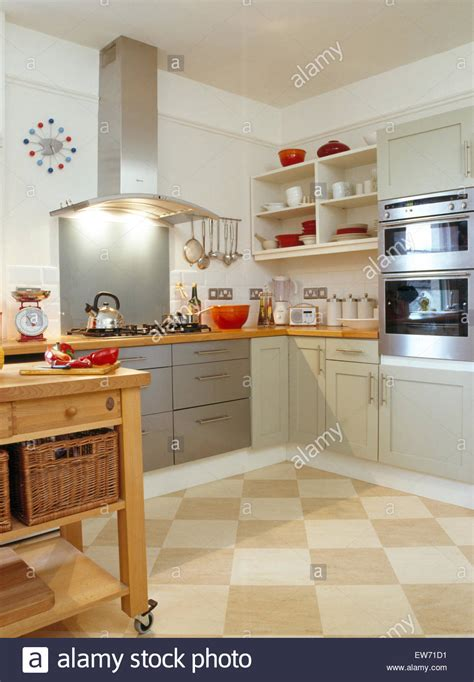 Interiors Modern Kitchens Extractors Stockfotos