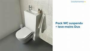 WC suspendu + lave mains Duo (653334) Castorama YouTube
