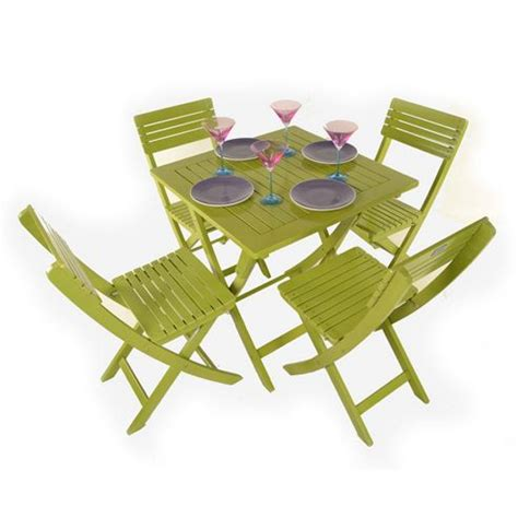 buy painted wooden 4 seater square folding bistro set