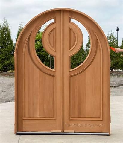Custom Doors Double Arched Round Door Glass