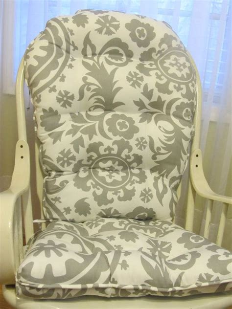 tufted rounded back glider or rocking chair cushion set