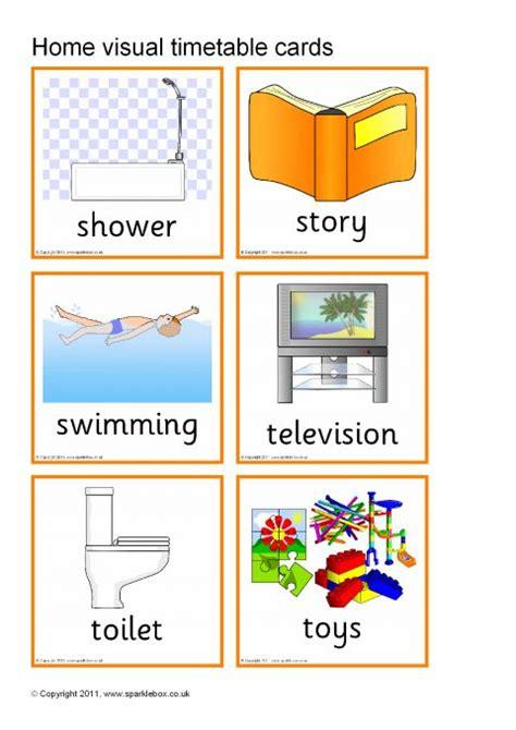 visual timetable  home sb sparklebox