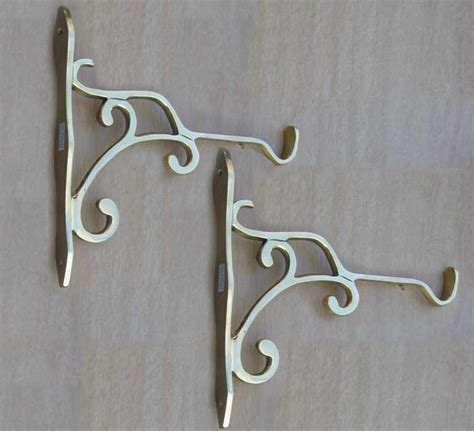 Wall Plant Hooks by Plant Swag Wall Hooks Set Of 2 Solid Brass Ebay