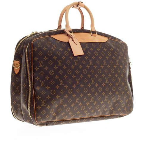 louis vuitton alize travel bag monogram canvas  poches  stdibs