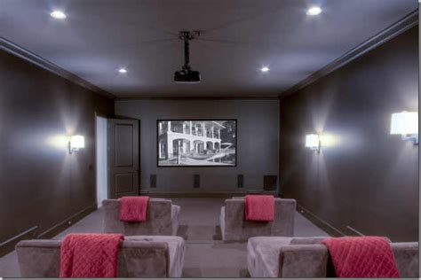 Modern Interior Media Rooms Paint Colors