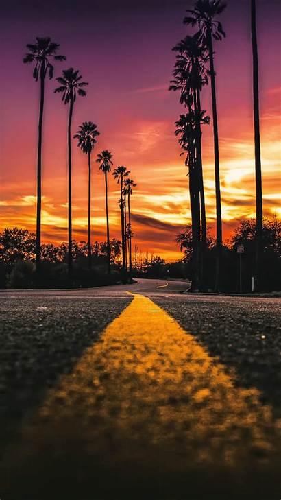 Angeles Los California Wallpapers Street Landscape Sunset