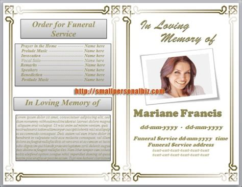 funeral program templates microsoft word website