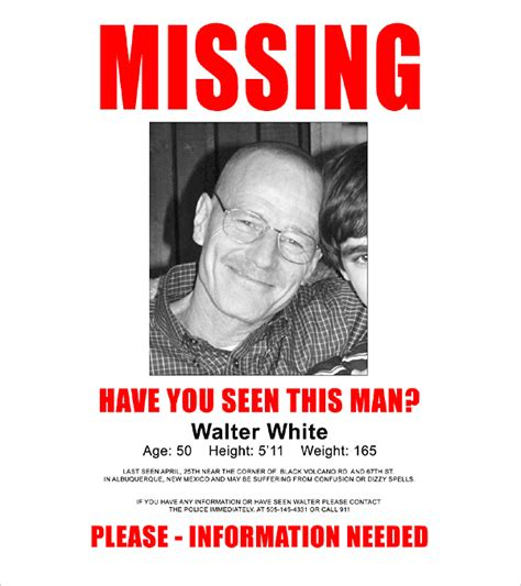 missing person template 16 wanted poster templates free sle exle format free premium templates