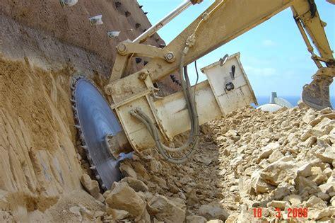excavator rock