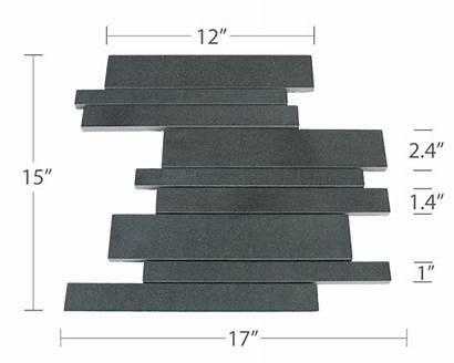 Basalt Tile Tiles Interlocking Norstone Wall Mesh