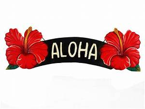 Aloha Red Hibiscus Sign