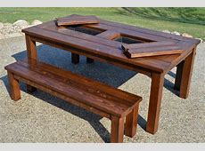 Remodelaholic Building Plans Patio Table with Builtin