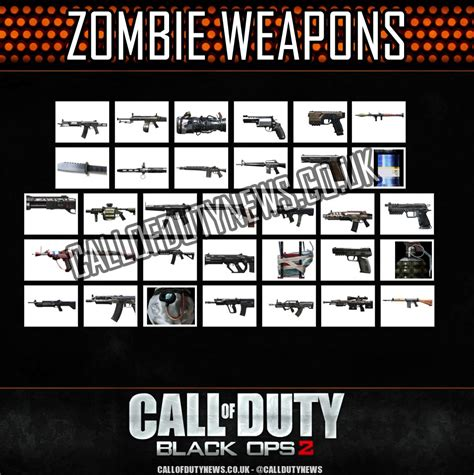 zombie zombies guns ops duty call bo2 cool weapons code wallpapersafari cod