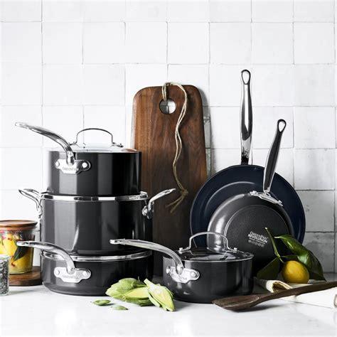 greenpan revolution ceramic nonstick  piece cookware set williams sonoma au